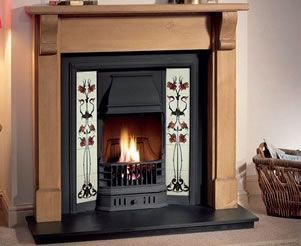 Tiled Cast Iron Fire Inserts
