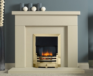 Jura Stone Fireplace Packages with Electric Fires