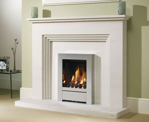 Limestone Fireplace Packages With Gas Fires