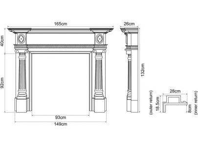 Carron Ashleigh Painted Oak Fire Surround
