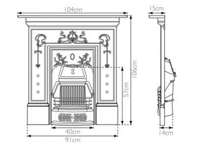 Carron Bella Cast Iron Combination Fireplace