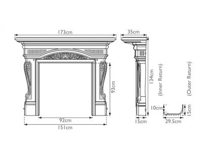 Carron Buckingham Cast Iron Surround