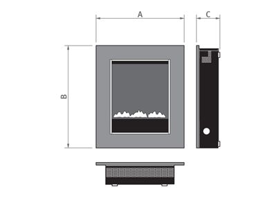 Burley Image Wall Mounted or Semi Inset Gas Fire