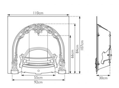 Carron Fireplaces Cherub Cast Iron Insert