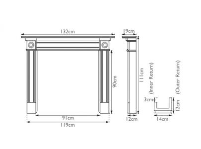 Carron Derry Solid Oak Fire Surround
