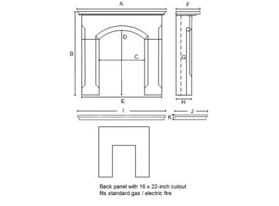 PureGlow Harvington Limestone Fireplace