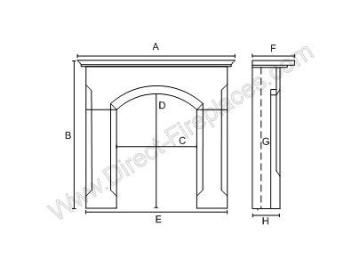 Penman Collection 54-inch Calabria Wooden Fireplace