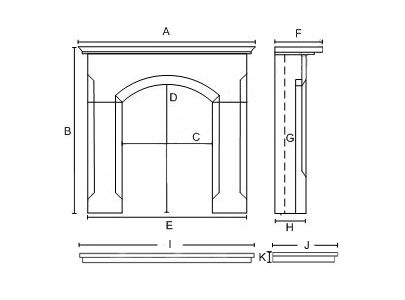 Elgin & Hall Newham Electric Fireplace