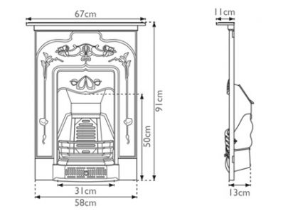 Carron Jasmine Cast Iron Combination Fireplace