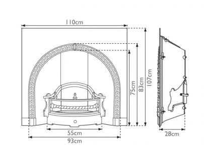 Carron Fireplaces Kensington Cast Iron Fire Insert