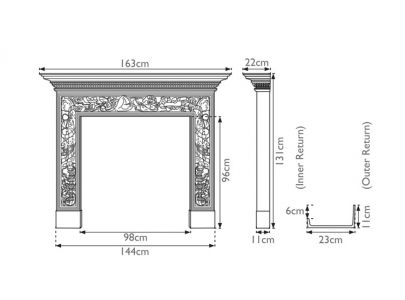 Carron Mayfair Cast Iron Surround
