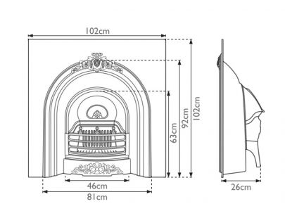 Carron Fireplaces Prince Cast Iron Fire Insert