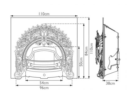Carron Fireplaces Rococo Cast Iron Fire Insert