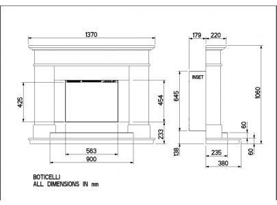 Celsi Ultiflame VR Boticelli  Electric Fireplace Suite