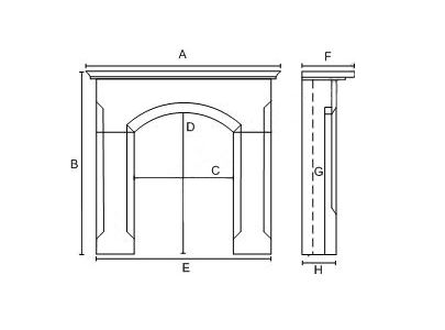Cast Tec Kielder Wooden Fire Surround