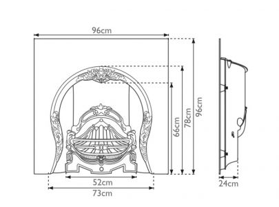Carron Fireplaces, Tiffany Cast Iron Fire Insert