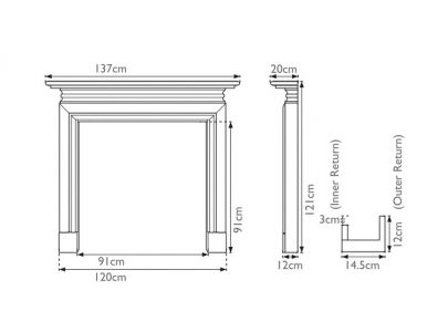 Carron Wessex Painted Wooden Fire Surround