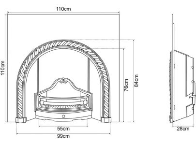 Carron Fireplaces Westminster Cast Iron Fire Insert