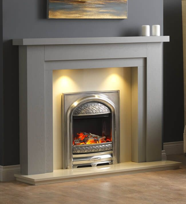 Pureglow Hanley Painted Wooden, How To Paint A Wooden Fire Surround