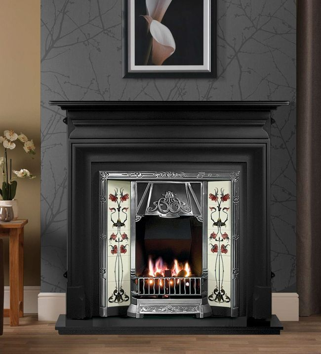 Gallery Collection Toulouse Tiled Cast Iron Insert From Direct Fireplaces Direct Fireplaces