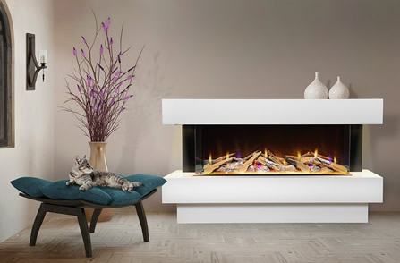 Our Best Three Sided Electric Fireplaces